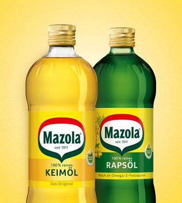 Keimöl und Rapsöl von Mazola®