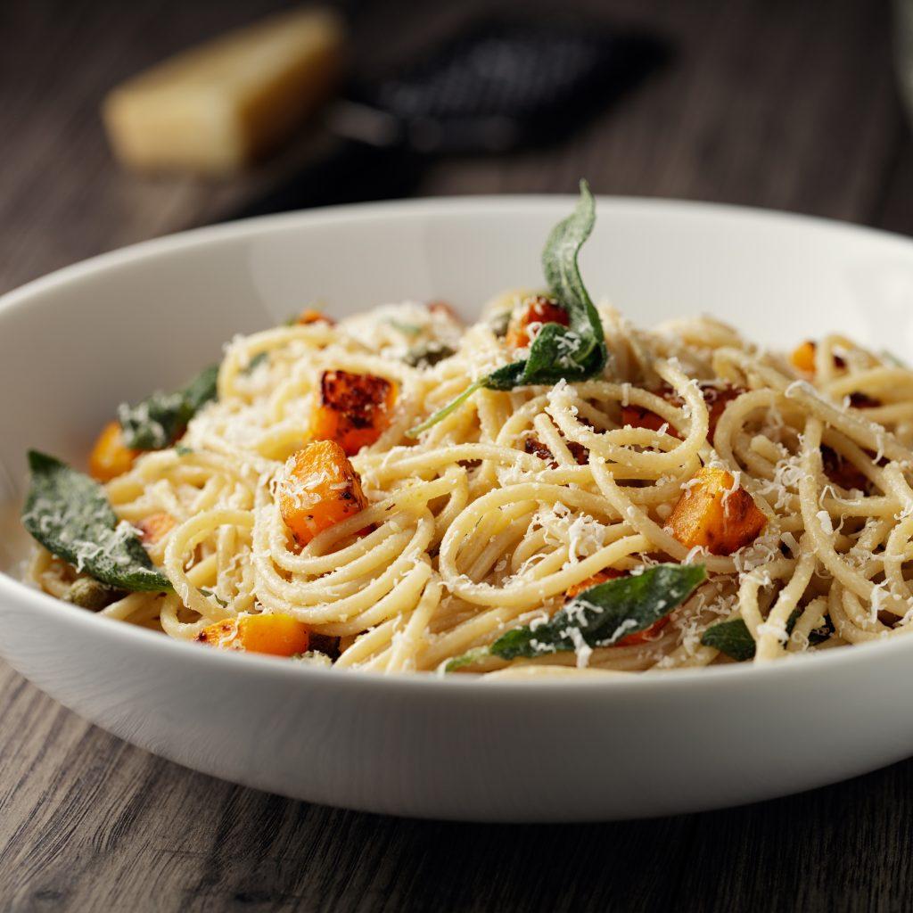 Spaghetti in Kürbissauce